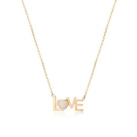 """Le Scritte - Collana argento 925 con scritta """"Love""""."""