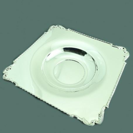 Arteregalo - Ciotola quadra argento 925 g 484 - cm 27x27x4.