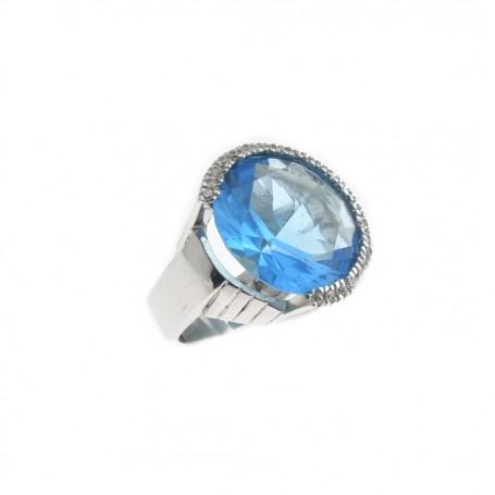 Arteregalo - Anello argento 925 con quarzo azzurro.