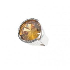Arteregalo - Anello argento 925 con quarzo citrino.