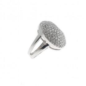 Arteregalo - Anello argento 925 con zirconi.