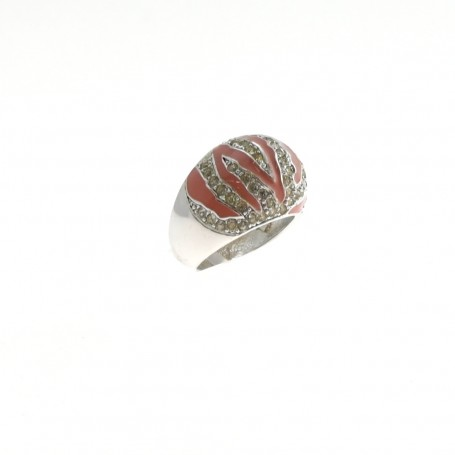 Arteregalo - Anello argento 925 con zirconi e smalti.