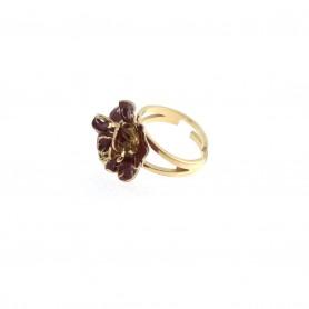 Arteregalo - Anello argento 925 dorato con smalti.