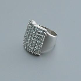 Arteregalo - Anello argento 925 con strass color azzurro.