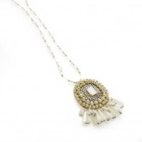 Ottaviani - Collana con cristalli, perline, quarzi e strass. 480297
