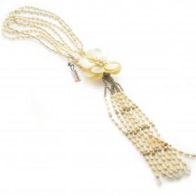 Ottaviani - Collana con perle, madreperla e cristalli. 480329