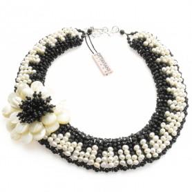 Ottaviani - Collana con cristalli e perle. 480127