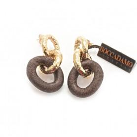 Boccadamo - Orecchini in bronzo con particolari glitterati. XOR001RSMAR