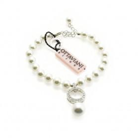 Ottaviani - Bracciale con perle e strass. 470828