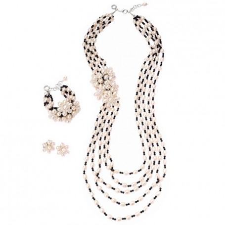 Ottaviani - Parure con perle e onice.