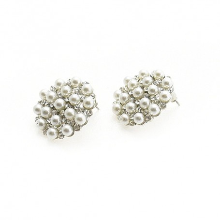Ottaviani - Orecchini con perline e strass. 49754