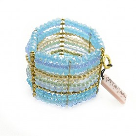 Ottaviani - Bracciale con cristalli e perline. 47213