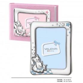 Valenti Argenti - Portafoto bimbo argento con smalti. 73113