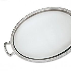 Greggio - Vassoi ovali inglese con manici argento 925. Varie misure.