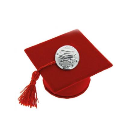 Arteregalo - Tocco laurea alcantara c/placca argento.
