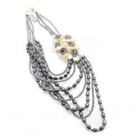 Ottaviani - Collana con cristalli, perle e madreperla. 480331