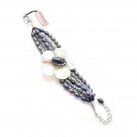 Ottaviani - Bracciale con cristalli, perle e madreperla. 470567