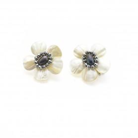Ottaviani - Orecchini con cristalli, perle e madreperla. 490225