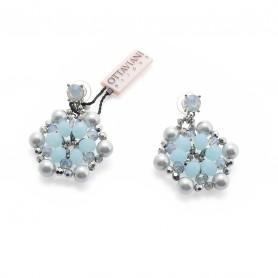 Ottaviani - Orecchini con cristalli, perle e quarzi. 49140