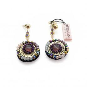Ottaviani - Orecchini con perline e cristalli. 490001