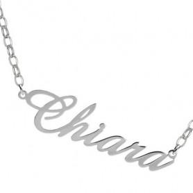 Artlinea - Collana argento piccola personalizzabile con nome.
