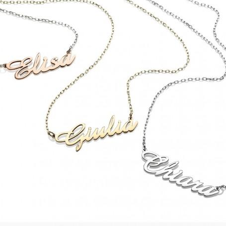 Artlinea - Collana oro 18 carati con  nome.