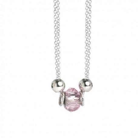 Boccadamo - Collana collezione Leika in cristallo swarovski light rose.