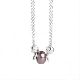 Boccadamo - Collana collezione Leika in perla swarovski color burgundy.